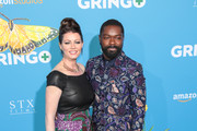David Oyelowo and Jessica Oyelowo are seen arriving for the Premiere of Amazon Studios And STX Films' 'Gringo' held at Regal LA Live Stadium 14 in Los Angeles, California.