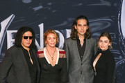 Gene Simmons, Shannon Tweed, Nick Simmons and Sophie Simmons are seen attending the premiere of Columbia Pictures' 'Venom' at Regency Village Theatre in Los Angeles, California.