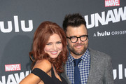 Brigid Brannagh and Kevin Weisman are seen attending the premiere of Hulu's 'Marvel's Runaways' at The Regency Bruin Theatre in Los Angeles, California.