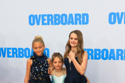Alyvia Alyn Lind, Payton Lepinski and Hannah Nordberg are seen arriving at the Premiere of Lionsgate and Pantelion Film's 'Overboard' at Regency Village Theatre in Los Angeles, California.