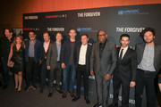 Jeff Rice, Lee Broda, Zaheer Bhyat, Bill Bromiley, Eric Bana, Roland Joffe, Forest Whitaker, Jeff Gum, Jonathan Saba are seen attending the premiere of Saban Films' 'The Forgiven' at the Directors Guild of America in Los Angeles, California.