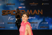 Marisa Tomei is seen arriving for the Premiere of Sony Pictures' 'Spider-Man Far From Home' held at TCL Chinese Theatre in Los Angeles, California.