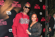 Snoop Dogg and Shante Broadus are seen attending the premiere for TBS's 'Drop The Mic' and 'The Joker's Wild' at The Highlight Room in Los Angeles, California.