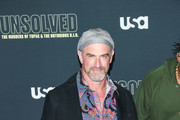 Christopher Meloni is seen attending the premiere of USA Network's 'Unsolved: The Murders of Tupac and The Notorious B.I.G. at Avalon in Los Angeles, California.
