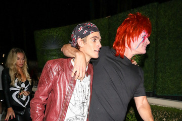 Presley Gerber Rande Gerber And Cindy Crawford Are Seen At The Casamigos Halloween Party In Beverly Hills