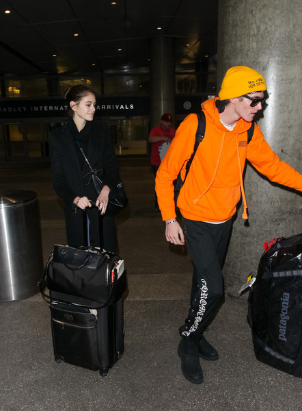Kaia Gerber And Her Brother Presley Visit LAX
