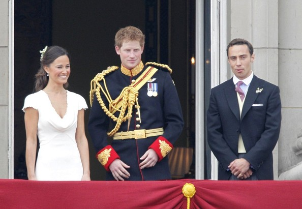 Pippa Middleton and Prince Harry - Royal Wedding: William and Kate with family