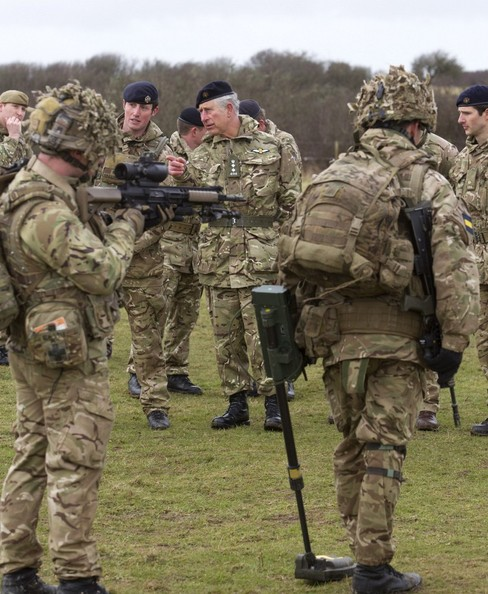 The Prince of Wales, Colonel-in-Chief, will visit C Squadron, 1st Queen's Dragoon Guards meets troops who are training for future operations at Castlemartin Range Complex, South Pembrokeshire, Wales.