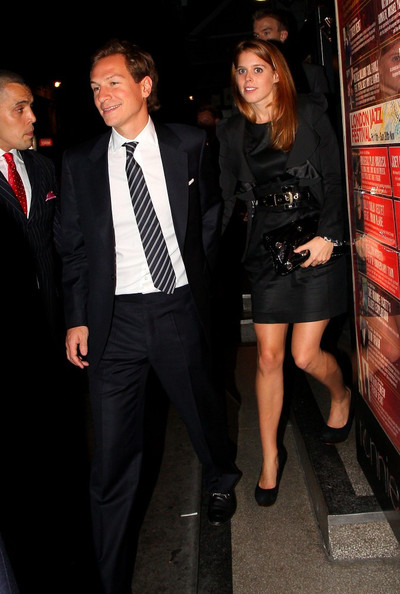 Princess Beatrice Guests are seen attending a private party hosted by US jazz legend Tony Bennett, the event was held at Ronnie Scott's Jazz Club in SoHo.