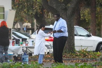 Quinton Aaron Celebs on the Set of 'Mother's Day'