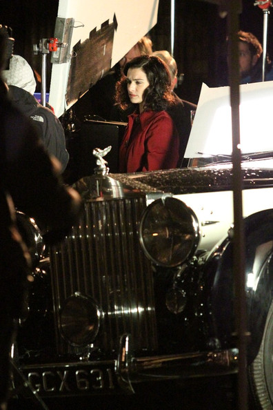 Rachel Weisz on the set of 'The Deep Blue Sea.'.