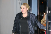 Rebel Wilson Outside Craig's Restaurant in West Hollywood