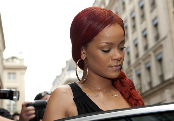 rihanna ugly outfit. rihanna ugly red hair