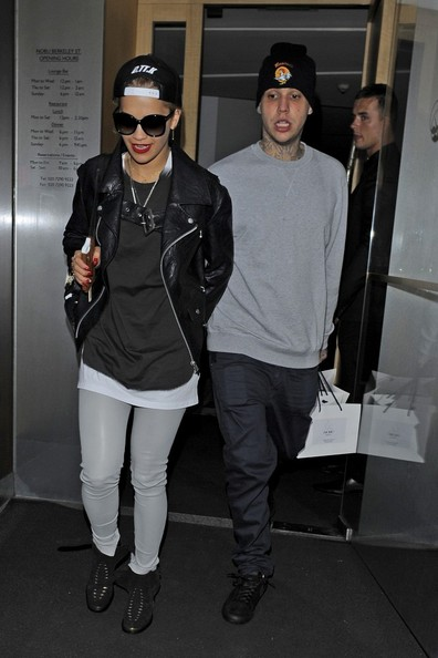 Rita Ora leaving Nobu restaurant holding hands with Richard Hilfiger, son of renowned fashion designer Tommy Hilfiger.