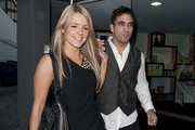 Roberto Martinez picks his fiancee Ali Fedotowsky  as she got all dolled up at Gavert in Beverly Hills.