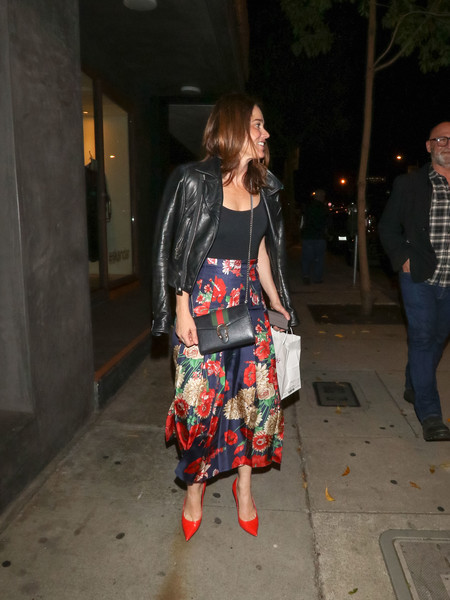 Robin Tunney Outside Craig's Restaurant In West Hollywood