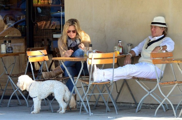 Rod Stewart Gets Lunch with Penny Lancaster