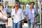 Rod Stewart and Sean Stewart Hang out in Beverly Hills