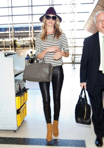 Rosie+Huntington-Whiteley in Rosie Huntington-Whiteley Leaves LA