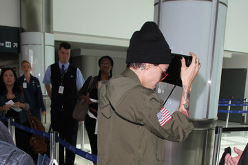 Ruby Rose Ruby Rose Keeps a Low Profile at LAX