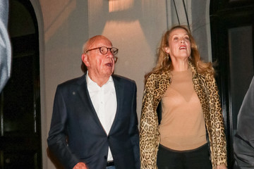 Rupert Murdoch Jerry Hall At Craig's Restaurant in West Hollywood