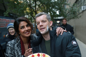 Russell Tovey Priyanka Chopra and Russell Tovey Celebrate on Set