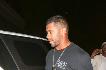 Russell Wilson Russell Wilson Outside Craig's Restaurant In West Hollywood