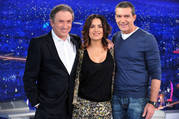 "Michel Drucker Salma and Antonio on ""Champs-Elysees"""