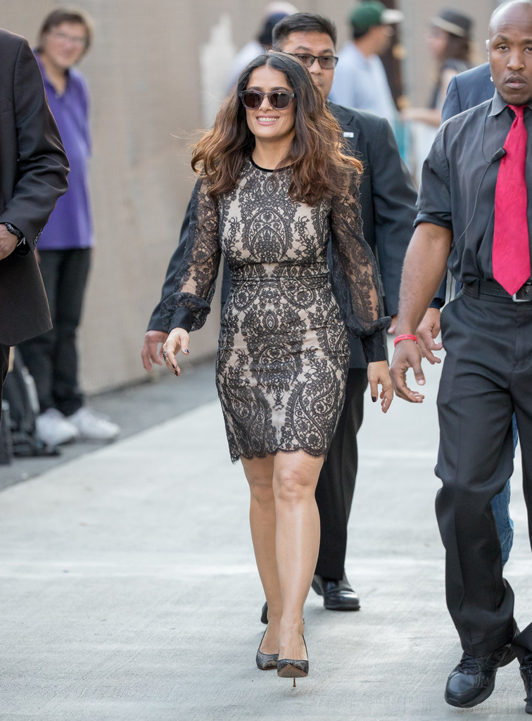 "Salma Hayek Spotted at ""Jimmy Kimmel Live"" 08/02/2016"