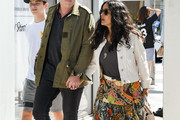 Salma Hayek, her husband, Francois-Henri Pinault and Pinault's son, Augustin are seen in Los Angeles, California.