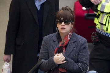 Sam Cooper Lily Allen and Sam Cooper Arrive in London