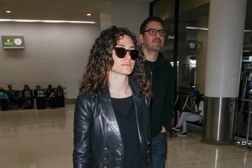 Sam Esmail Emmy Rossum And Her Husband, Sam Esmail, Hit LAX