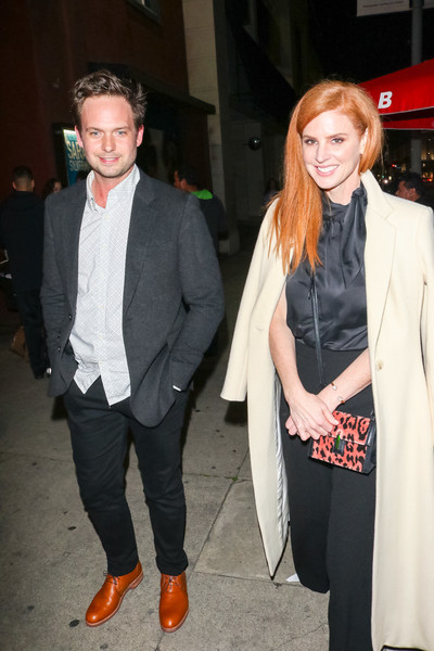 Patrick J. Adams And Sarah Rafferty Are Seen Outside Largo Comedy Club In West Hollywood []
