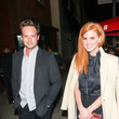 Sarah Rafferty Patrick J. Adams And Sarah Rafferty Are Seen Outside Largo Comedy Club In West Hollywood