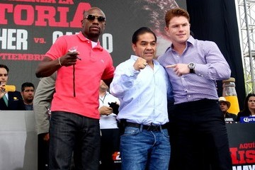 Saul Alvarez Mayweather and Alvarez Press Conference