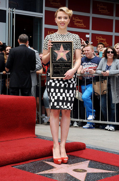 Scarlett Johansson honored with star on the Hollywood Walk of Fame. Hollywood, CA.May 2, 2012.