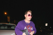 Scott Storch outside Craig's Restaurant in West Hollywood