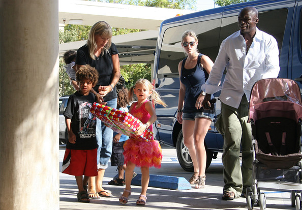 heidi klum seal and children. Heidi Klum#39;s Children Attend