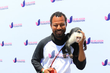 Shane Mosley Dee Dee Jackson At The Celebrity Softball game In Encino