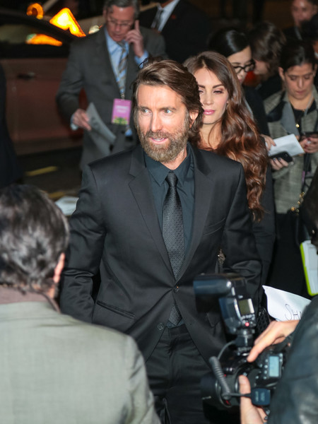 Sharlto Copley Outside Regal LA Live Theatre