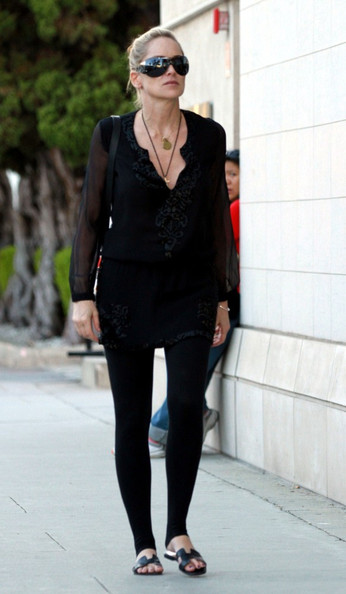 Sharon Stone Sharon Stone dresses in all black as she shops in Beverly Hills.