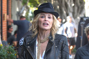 Sharon Stone Is Seen the Set of 'A Little Something for Your Birthday'