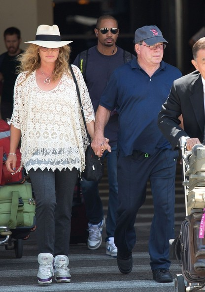 william shatner and family arrive at lax zimbio