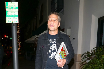 Shepard Fairey Shepard Fairey Outside Billy Idol's Birthday Party At Mr Chows Restaurant