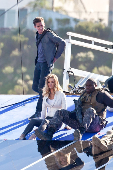 Shia LaBeouf and Rosie Huntington-Whiteley shoot scenes for the upcoming film, Transformers: Dark of the Moon.