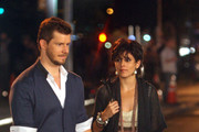 """Actress Jamie-Lynn Sigler films a guest appearance on """"Ugly Betty"""" with Eric Mabius outside the Bowery."""
