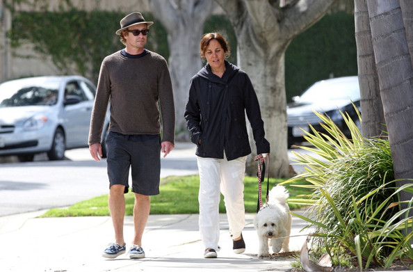 Baker and rebecca rigg in brentwood in this photo simon baker rebecca