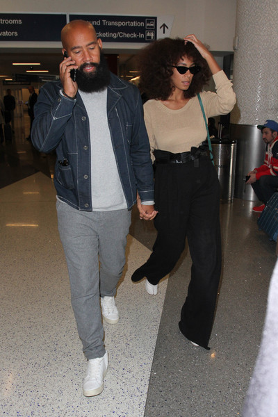 Solange Knowles and Alan Ferguson Are Seen at LAX