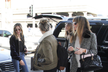 Sophia Stallone The Stallone Family Is Seen at LAX