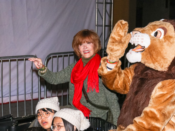 Stefanie Powers Outside Hollywood Christmas Parade